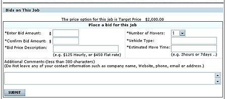 how it works for movers place bids on moving marketplace